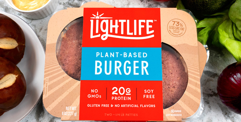 Plant-based Lightlife Burger