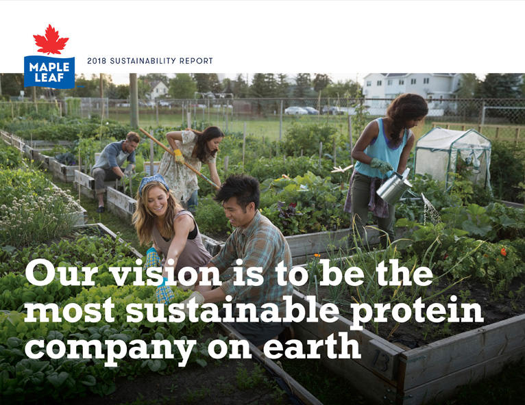 Maple Leaf Foods 2018 Sustainability Report cover image